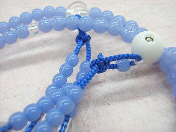 四国八十八ヶ所参り用数珠<プラスチック素材空色>尺2[お遍路グッズ][お遍路用品]