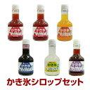 着色料、甘味料、香料、保存料は使用しておりません!【無添加シロップ】かき氷しろっぷ6本セット