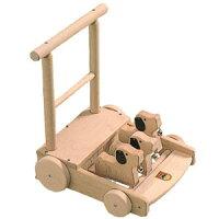 河合楽器製作所6032手押し車(うごかしてあそぶ)木の玩具