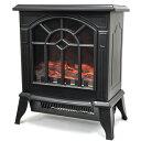 【あす楽】VERSOS(ベルソス) 暖炉型ヒーター ブラック VS-HF3201 擬似炎照明 600