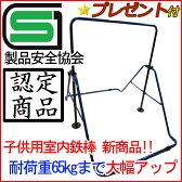 スーパー鉄棒65 子供用鉄棒屋内・室内 耐荷重65kg SGマーク付き FM-1544 屋外利用可 ブルー/ブラック 【ポイント15倍】