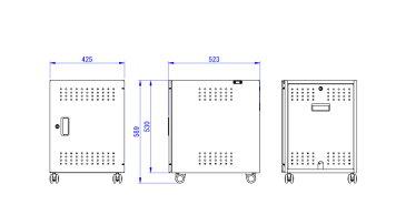 SDS エスディエス / タブレット収納庫 Tabラック スモールタイプ / TR-11S【代引き・時間指定不可】【SDSの大型商品は車上渡し】【組立完成品】