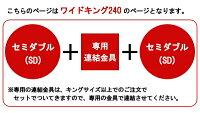 パネル型ラインデザインベッドWK240ポケットコイルスプリングマットレス付284-WK240-108517【対象外商品】