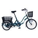 【2017年9月下旬頃入荷予定】ミムゴ 三輪自転車 SWING CHARLIE2(スイングチャーリー2) MG-TRW20E ティールグリーン【代引き不可】