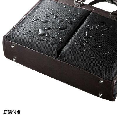 ビジカジPCバッグブラック15.6ワイドPC対応2WAYビジネスバッグカジュアルデザインショルダーベルト付き(BAG-C40BK)