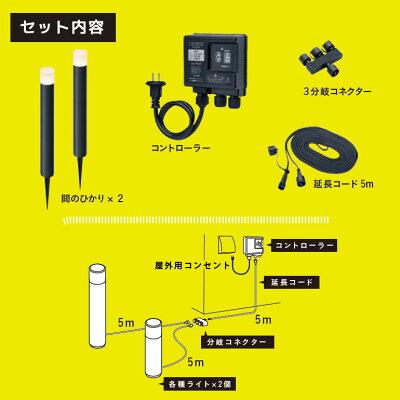 LEDIUSHOMEひかりノベーション間のひかりセット屋外用(75710700)