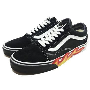 【バンズ】 バンズ オールドスクール (FLAME CUT OUT) [サイズ:29cm(US11)] [カラー:ブラック×トゥルーホワイト] #VN0A38G1UJG 【靴:メンズ靴:スニーカー】【VN0A38G1UJG】【VANS VANS OLD SKOOL (FLAME CUT OUT) BLACK/TRUE WHITE】
