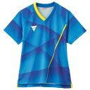 【割引クーポン有】 【送料込み(沖縄・離島を除く)】 V-LGS201卓球ゲームシャツ(レディース) [サイズ:XS] [カラー:ブルー] #031485-0120 【ヴィクタス: スポーツ・アウトドア 卓球 ウェア】【VICTAS】