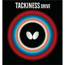 【バタフライ】 タキネス・DRIVE 卓球ラバ— [カラー:レッド] [サイズ:薄] #05410 【スポーツ・アウトドア:卓球:卓球用ラバー】【BUTTERFLY】
