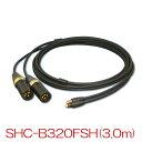 【送料無料】SAEC サエクコマース SHC-B320FSH 3.0m バランス専用ヘッドホンケーブル(SHURE SRH1840・SRH1440用)