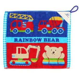 在有努力有循環的毛巾洗滌毛巾彩虹提高基本工資的車起作用的車今治毛巾的日本製造帶子的毛巾循環毛巾入園祝賀人氣