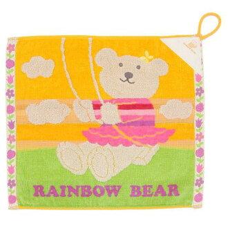 用迴圈毛巾毛巾洗今毛巾在取得日本綁毛巾放大鏡工具加入流行的彩虹熊波動