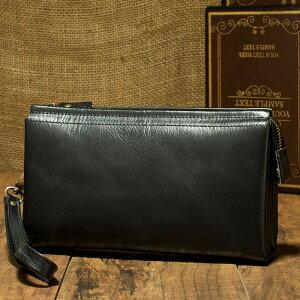 高級牛革牛革レザーメンズセカンドバッグ長財布携帯入れ