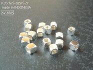 12/23再入荷!【sv-8705/シルバー925(ブライト)】バリビーズ・パーツ|カットビーズ(4mm)/2ヶ【メール便OK】||*