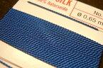 【0-6号揃ってます】グリフィン糸(グリフィンコード/シルク)|ダークブルー/1ヶ【メール便OK】