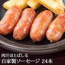 冷凍生ソーセージ24本