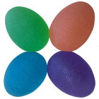 【握力のトレーニングに】スクイーズエッグ【オレンジ、グリーン、ブルー、パープル4個セット】