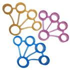 【指のトレーニングに】フィンガートレーニングフラワー【【ピンク、オレンジ、ブルー3色セット】