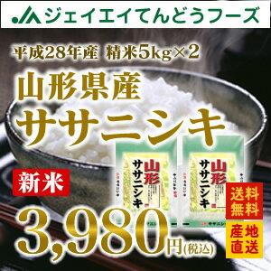 山形県産ササニシキ 精米5kg×2