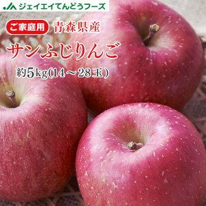 りんご 訳あり 5kg 送料無料 青森県産 サンふじ 約5kg(14〜28玉) バラ詰め ※一部地域は別途送料追加 フルーツ 果物 果物 順次出荷 ap13