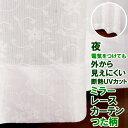 レースカーテン ミラー つた柄 4169ホワイト 夜も見えにくい 断熱 UVカット ミラーカーテン 日本製 おしゃれ イージーオーダー 巾(幅)35〜100cm×高さ(丈)60〜200cm 1枚入遮像【受注生産A】