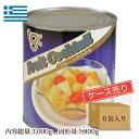 【ギリシャ産】フルーツカクテル シラップづけ 1号缶 (固形...