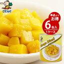 【6缶セット】 マンゴー 缶詰 タイ産 ダイス 1号缶 固形