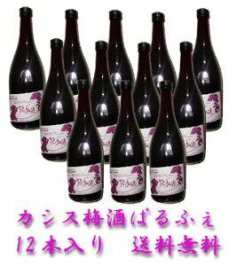 カシス梅酒 ぱるふぇ  9度  720ml×12本入り 送料無料