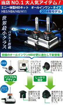 mini 一体型 HID H11 H8 HB3 HB4 55W HIDキット フォグ ヘッドライトに オールインワン HID 一体型HID 3000K(イエロー) 4300K 6000K 8000K 10000K フォグランプ hid 1年保証 送料無料