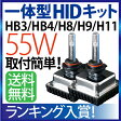 mini 一体型 HID H11 H8 HB3 HB4 55W HIDキット フォグ ヘッドライト オールインワン HID 一体型HID 3000K(イエロー) 4300K 6000K 8000K 10000K フォグランプ hid ヴォクシー プリウス エスティマ ヴェルファイア アクア シエンタ ムーヴ オデッセイ N-BOX …ete 送料無料