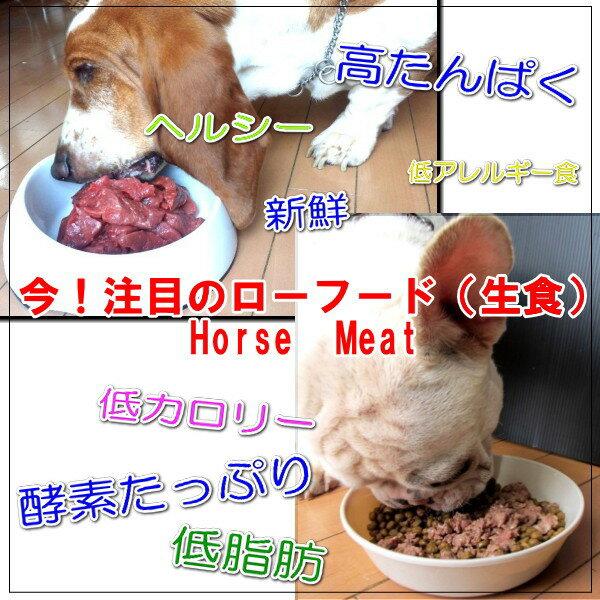 馬肉 ぶつ切り 200g ※ペット赤身 /ペットフード 【RCP】