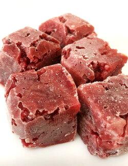 ≪国産≫馬肉ミンチ角切り600g※ペット