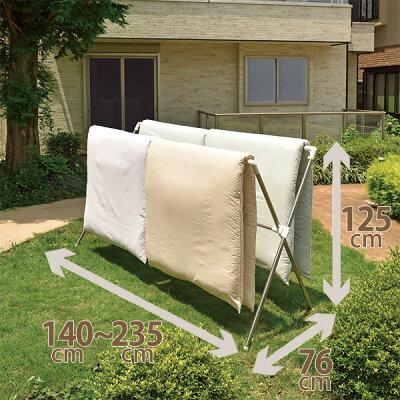 布団干し 布団 干す アイテム グッツ 竿 使いやすい おすすめ商品 干すメリット 選び方 多機能 洗濯物 枕 ぬいぐるみ 干し方 天馬 ポーリッシュ 伸縮式布団干しX型