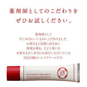 驚きのサラサラ感ハンドクリーム40gチューブタイプミニサイズギフトプレゼントBELVISOベルビーゾ日本食高保湿無香料手荒れ送料無料メール便かかと角質ケアポイント消化。