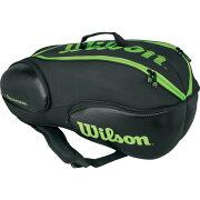 2015WILSONBURNTEAM6パック(ブラックオレンジ)ウィルソンバーンチーム6本収納可【ラケットバッグ】[テニスショップグランドスラム]