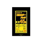 【ポリ袋】オリーブ45LSL-45-1(黒)10枚×60冊[オフィスビル病院飲食店分別ゴミ箱ゴミ袋]激安!
