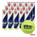 ウイルソン Wilson テニスボール TOUR STANDARD(ツアー・スタンダード)4球入 1箱(15缶/60球) WRT103800