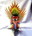 ガルダ(ガルーダ=Garuda神鳥)木彫り人形(高さ約33cmサイズ)赤色