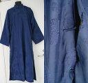 レーヨン製チャンパオ(フリーサイズ)(長袍・紺色)