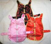 ペット用チャイナドレス DS20cmサイズ(ダックスフンド型犬用) ピンク色