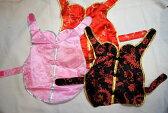 ペット用チャイナドレス 30cmサイズ(ペット中型犬用) ピンク色