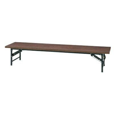 会議用テーブルロータイプ折りたたみローズ色KR1860NRローズ