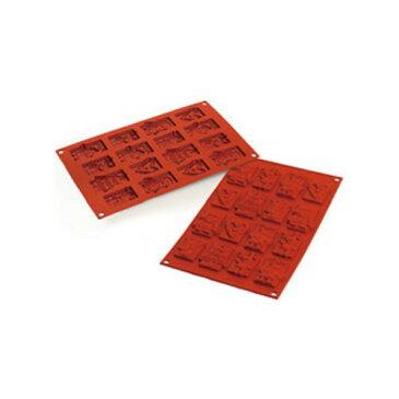 シリコマート シリコンフレックス クリスマスチョコタグ(16ヶ取)SF146 幅300×奥行175(mm)/業務用/新品/小物送料対象商品