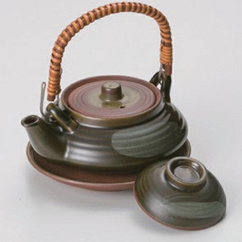 オリベ平型土瓶むし(中国製) 土瓶蒸し 高さ50mm×口径:116/業務用/新品 /テンポス