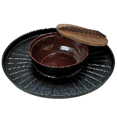 【業務用】【グループD】30cm焼きしゃぶ鍋B(木蓋付)