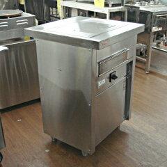 【送料無料】【中古】【業務用】 グリラー付テーブル GX-4C1 幅600×奥行600×高さ880 単相200V