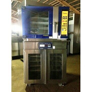 【中古】オーブン付 ホイロ つじ機械 BKF-4PB-750 幅750×奥行730×高さ1380 【送料無料】【業務用】【厨房機器】