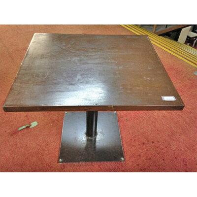 テーブル2名用天板茶