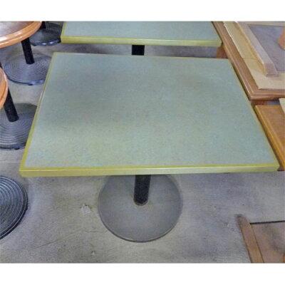 メラミン木ブチテーブル緑
