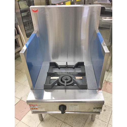 【中古】ローレンジ 1口 マルゼン RGS-066B 幅600×奥行600×高さ450 LPG(プロパンガス) 【業務用】:厨房器具と店舗用品のTENPOS